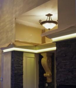 LED detail built into cove