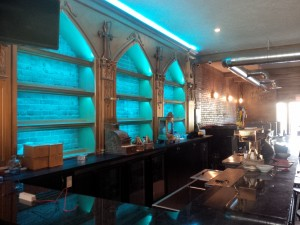 Whyte ave area bar with extensive use of colour changing LED details