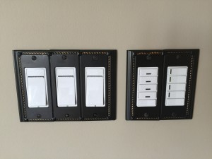 We also install and program Vizia lighting controls - set a scene in your home with one touch!